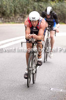 Cycle leg, passing the Ugly House - full triathlon