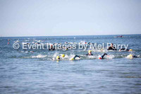 Swim leg, water exit - full triathlon second wave